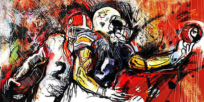 Painting - Georgia Vs Auburn by John Jr Gholson