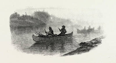 Berry Drawing - Georgian Bay And The Muskoka Lakes, Indian Women Carrying by Canadian School