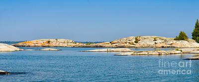 Photograph - Georgian Bay Islands by Les Palenik