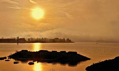 Photograph - Georgian Bay Misty Sunset by Jeff S PhotoArt