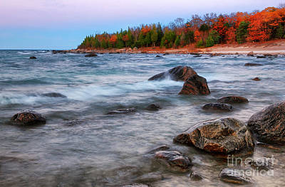Photograph - Georgian Bay Beach Autumn by Charline Xia