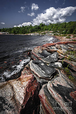 Georgian Bay Photograph - Georgian Bay Rocks I by Elena Elisseeva