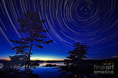 Photograph - Georgian Bay Star Trails by Charline Xia