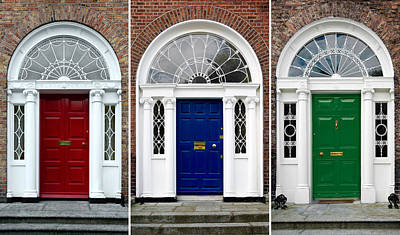 Georgian Doors - Dublin - Ireland Art Print
