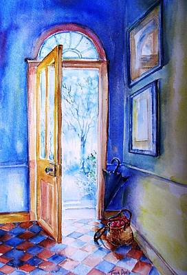 Art Print featuring the painting Winter Doorway Ireland    by Trudi Doyle