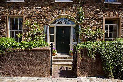 Old Roses Photograph - Georgian House Front, Lismore, County by Panoramic Images