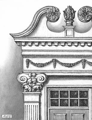 Early American Drawing - Georgian Splendor by Adam Zebediah Joseph