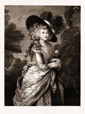 Duchess Drawing - Georgiana, Duchess Of Devonshire The Gainsborough Portrait by Litz Collection