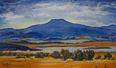 Art Print featuring the painting Georgia's Mountain by Ron Richard Baviello