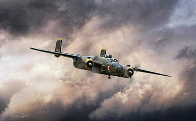 Georgie's Gal B-25 Art Print by Peter Chilelli