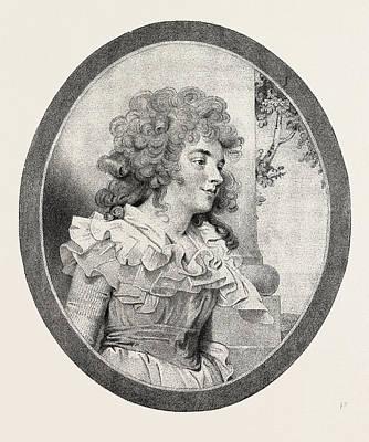 Georgina Spencer Art Print by English School