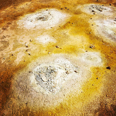 Detail Photograph - Geothermal Area Detail Iceland by Matthias Hauser