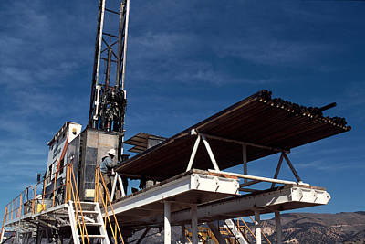 Steam Turbine Wall Art - Photograph - Geothermal Core Exploration Drill Rig by Theodore Clutter