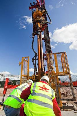 Newcastle Photograph - Geothermal Energy Project by Ashley Cooper