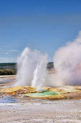 Photograph - Geothermal Geyser by Brenda Kean