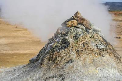 Geothermal Pile Of Sulphuric Rock  Art Print