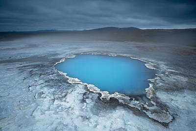 Nature Abstracts Photograph - Geothermal Pool Iceland by Mart Smit