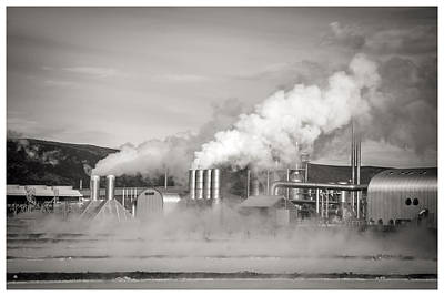 Photograph - Geothermal Power Plant Blue Lagoon by For Ninety One Days