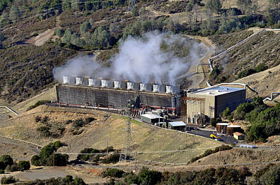 Steam Turbine Wall Art - Photograph - Geothermal Power Plant by Theodore Clutter