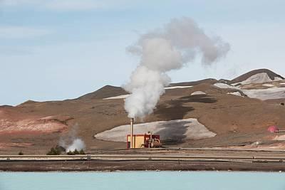 Geothermal Power Station Art Print