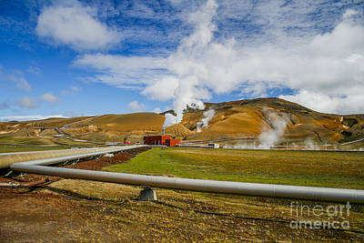 Photograph - Geothermal Power Station  by Patricia Hofmeester