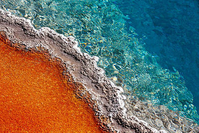 Natural Pool Photograph - Geothermic Layers by Todd Klassy