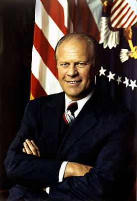 President Painting - Gerald Ford President Of The United States  by Celestial Images