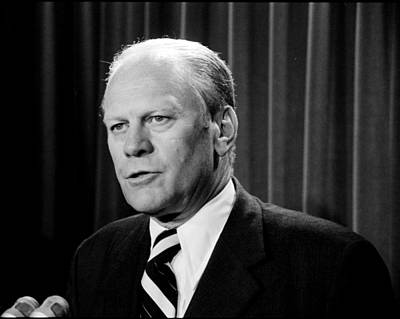 Potus Photograph - Gerald R Ford by Benjamin Yeager