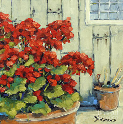 Canadiens Painting - Geranium Blooms By Prankearts by Richard T Pranke