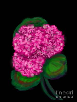 Art Print featuring the digital art Geranium by Christine Fournier
