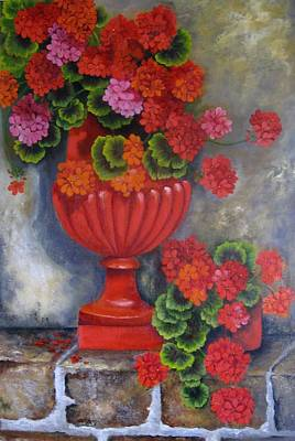 Painting - Geranium by Katia Aho