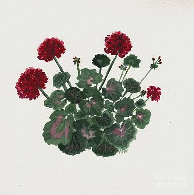 Painting - Geranium Study by Michelle Welles