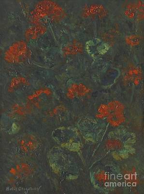Orthodox Painting - Geraniums by Celestial Images