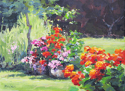 Painting - Geraniums by Karen Ilari