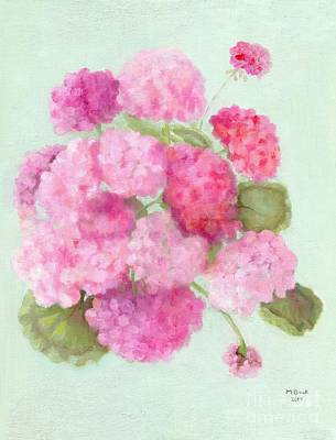 Painting - Geraniums by Marlene Book