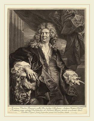 Gerard Edelinck After Hyacinthe Rigaud Flemish Art Print