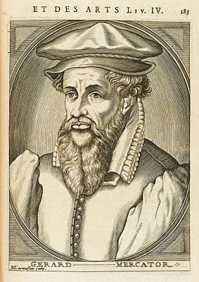 Gerardus Mercator Known Also As Gerhard Art Print by Mary Evans Picture Library