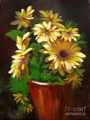 Painting - Gerber Daisies 3 by Carol Hart