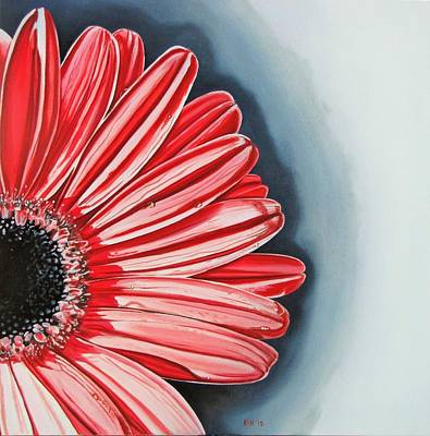 Painting - Gerber Daisy 2 by Kevin F Heuman
