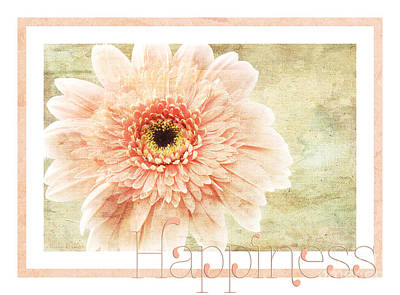 Photograph - Gerber Daisy Happiness 1 by Andee Design