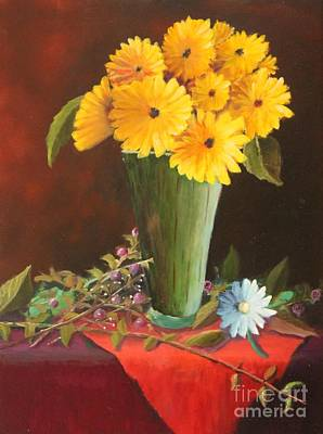 Painting - Gerbera Daisies  by Bob Williams