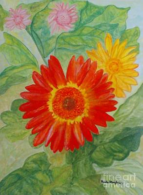 Painting - Gerbera Delights by Paula Maybery