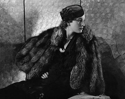 Black Curly Hair Photograph - Gerda Sommerhoff Wearing Suzy And Black Starr by Edward Steichen