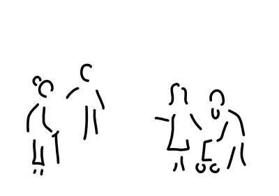 Old People Sketches Drawing - Geriatric Nurse Old People's Home Nursing-work by Lineamentum
