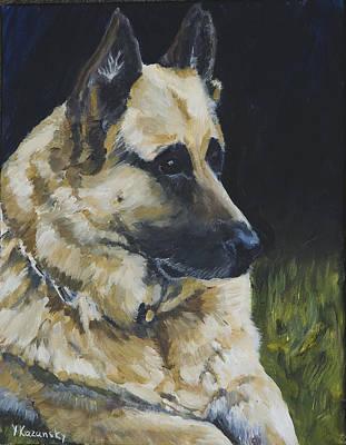 Painting - Germain Shepherd by Yulia Kazansky