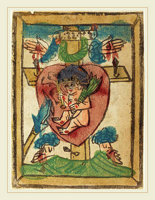 German 15th Century, Christ Child In The Sacred Heart Art Print