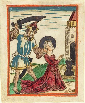 German 15th Century, Martyrdom Of Saint Barbara, 1480-1490 Art Print by Quint Lox