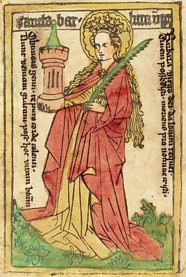 German 15th Century, Saint Barbara, 1440-1460 Art Print by Quint Lox