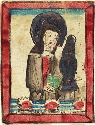 German 15th Century, Saint Clare Of Assisi, 1450-1470 Art Print
