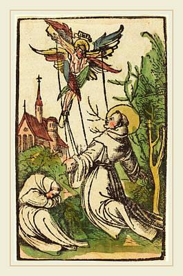 German 15th Century, Saint Francis Receiving The Stigmata Art Print